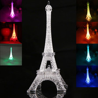 New Romantic Eiffel Tower LED Night Light Desk Wedding Bedroom Decorate Child Gift Lights Lamp E2shopping