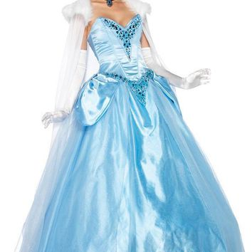 Cinderella Duluxe Adult Girls Women's Costume