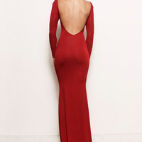 VIVIEN -  Siren Open Back Jersey Gown with Train Sustainable