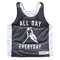 All Day Everyday Field Hockey Lacrosse Black Pinnie
