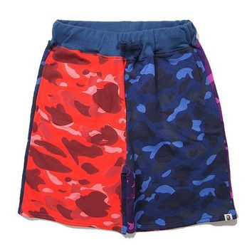 Men Casual Beach Pants Men's Fashion Print Shorts [211465469964]