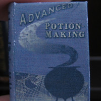 Advanced Potion Making textbook from Harry Potter in dollhouse miniature by LittleWooStudio
