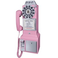 Crosley 1950's Retro Payphone -Comes in Black, Pink, Red and Brushed Chrome