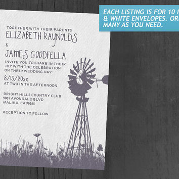 Windmill Wedding Invitations