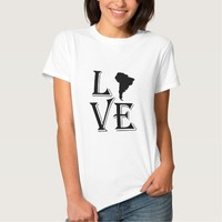 Love South America Continent Tshirt