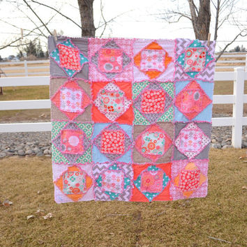 PATTERN Rag Quilt, Square Dance, Economy Rag Quilt Block, Instant Download PDF