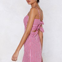 Back Us Gingham Dress