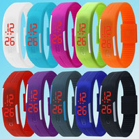 1PC New Arrival Fashion Jewelry Unisex Sport LED Watches Candy Color Silicone Rubber Touch Screen Digital Watches, Womens And Mens Bracelet Bangle Wristwatch Children's Watches BY EZMAX = 1958661700