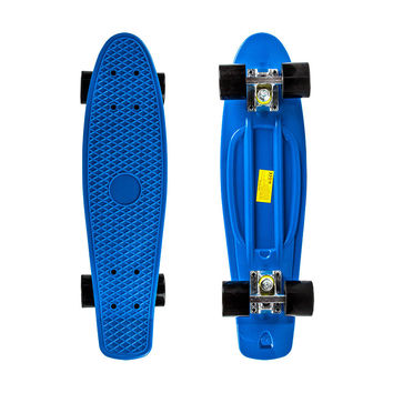 "22"" Complete Plastic Penny Style Street Classic Skateboard - Blue"