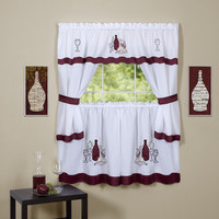 "Cabarnet Kitchen Curtain Cottage Set (58"" x 24"")"