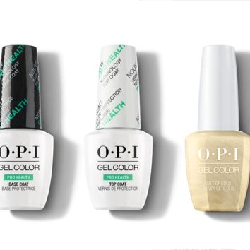 OPI - GelColor Combo - Base, Top & Gift of Gold Never Gets Old