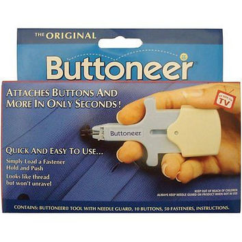 Avery Dennison The Original Buttoneer Button Fastener Fastening System Push Hold