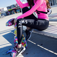 Korean Summer Autumn Stretch Gym Yoga Pants [6572512391]
