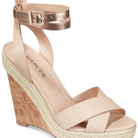CHARLES by Charles David Brit Platform Wedge Sandals - Sandals - Shoes - Macy's