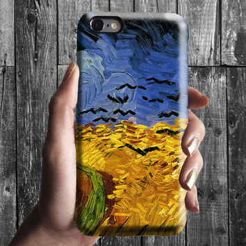 Wheat Field With Crows - Van Gogh iPhone Case 6, 6S, 6 Plus, 4S, 5S. Mobile Phone. Art Painting. Gift Idea. Anniversary. Gift for him/her