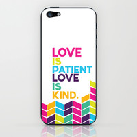 love is patient.. multicolored iPhone & iPod Skin by Studiomarshallarts