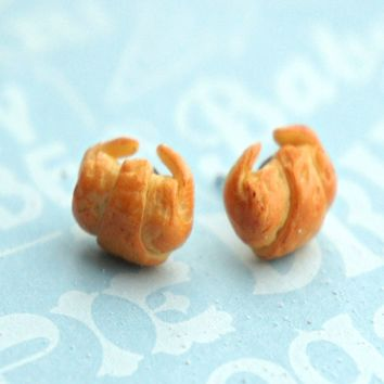 croissant stud earrings