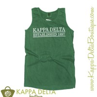 KD Boutique Apparel - Grass 1897 Lined Tank Top -