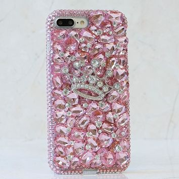 Baby Pink Crystals and Stones With Crown Design (Style 863)
