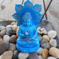 Sitting Lotus Buddha Statue, Incense Holder, Incense burner, Yoga Decor