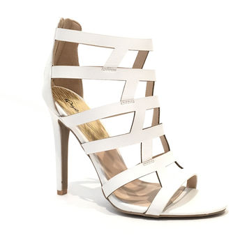 Spark Interest Heels In White