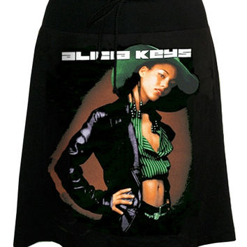 Alicia Keys Photo Print T-Shirt Skirt