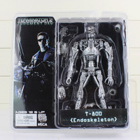 "NECA The Terminator 2 Action Figure T-800 Battle Across Time Arnold PVC Action Figures Toy Collectible Model Dolls 7""18cm"