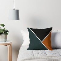 'Noir Series - Forest & Orange' Throw Pillow by Nicklas Gustafsson