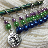 Tree of Life Stitch Marker Set for Knitting or Crochet