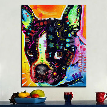 Large Oil Painting French Bulldog