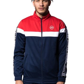 Pursuit Track Jacket - Red/Bue