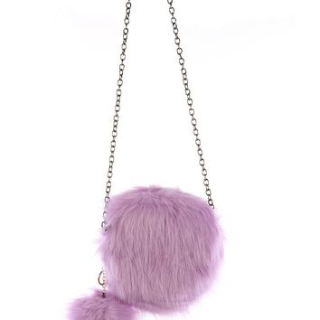 Faux Fur Round Crossbody
