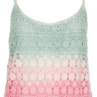 Dip Dye Crochet Cami - Tops  - Clothing