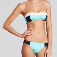 kate spade new york Parrot Cay Parrot Cay Color Block Bandeau Bikini Top & Parrot Cay Color Block Classic Bottom