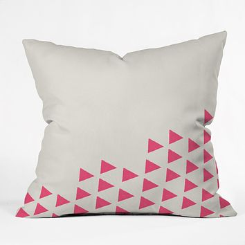 Allyson Johnson Pink Triangles Throw Pillow