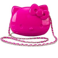 Hello Kitty Pink 3D Molded Crossbody With Chain