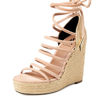 Dinah Ankle Tie Rope Wedge