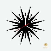 Starburst Wall Clock Design