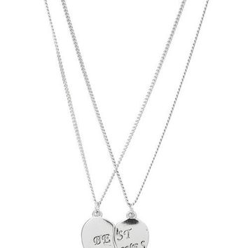 Silver Best Bitches Friendship Necklaces | Jewelry