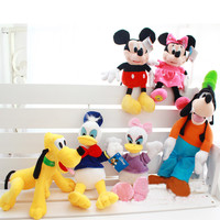 28cm Kawaii Mickey Mouse and Minnie Mouse Donald Duck and Daisy Duck Plush Toys Mickey and Minnie Plush