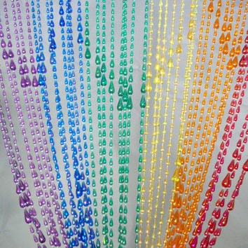 Rainbow Raindrop Beaded Curtain