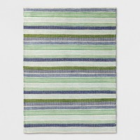 Blue/Green Striped Woven Rug - Threshold™