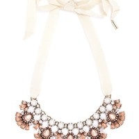 Ribbon Pearl Petal Collar
