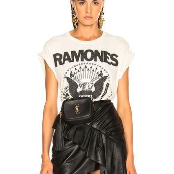 Madeworn Ramones Glitter Tee in Dirty White | FWRD