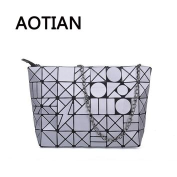 2017 Summer Fashion Women Bag Baobao Clutch Girls Beach Shoulder Bag Hologram Baobao sac a main Hobo Female Evening Bags Silver