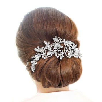 Beautiful Flower Bridal / Wedding Hair Comb