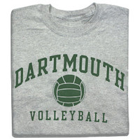 Dartmouth Volleyball Tee-Dartmouth Coop