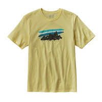 Patagonia Painted Fitz Roy Cotton Tee- Lite Blazing Yellow