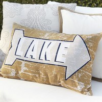 LAKE SENTIMENT INDOOR/OUTDOOR LUMBAR PILLOW