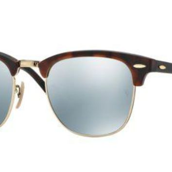 Cheap Ray Ban RB3016 114530 51M Sand Havana/Gold/Light Green Mirror Silver outlet